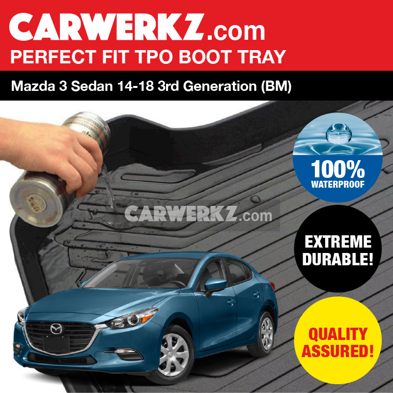 Mazda 3 Sedan 2014-2018 3rd Generation (BM) TPO Boot Tray - CarWerkz