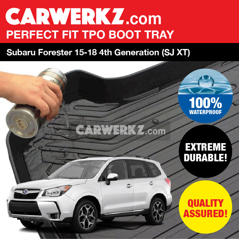 Subaru Forester 2015-2018 4th Generation (SJ XT) Ultra Durable TPO Boot Tray Bootliner - CarWerkz