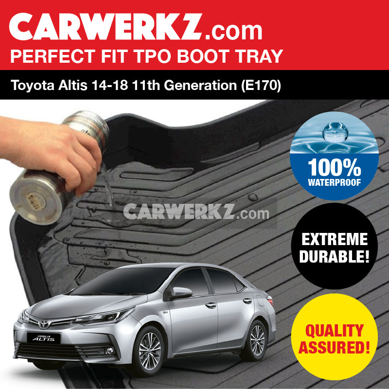 Toyota Altis 2014 2015 2016 2017 2018 11th Generation (E170) Durable TPO Boot Tray - CarWerkz