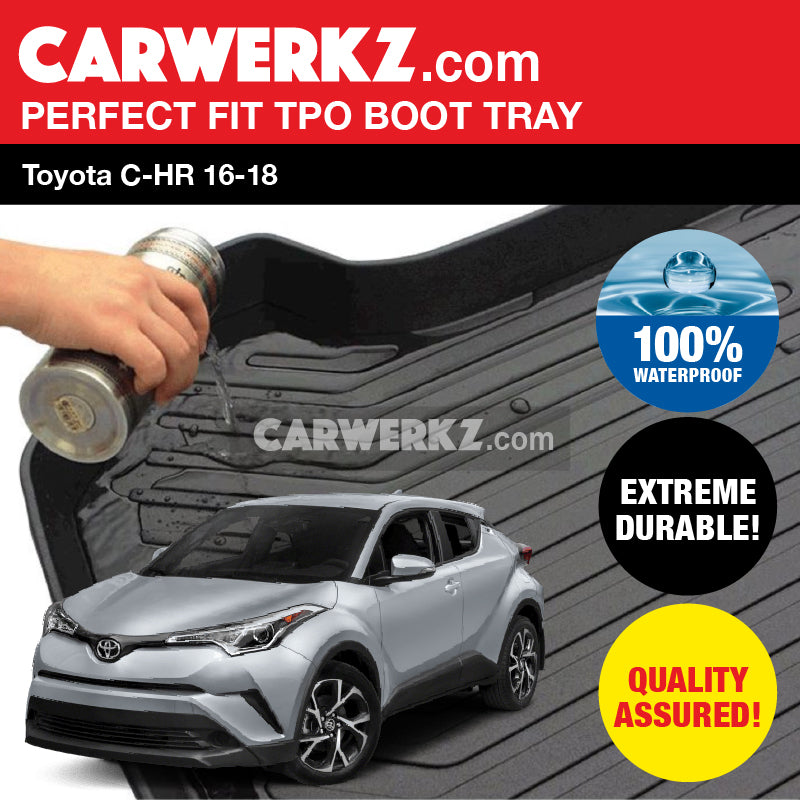 Toyota C-HR CHR 2017-2019 (AX10) Ultra Durable TPO Boot Tray Bootliner - CarWerkz
