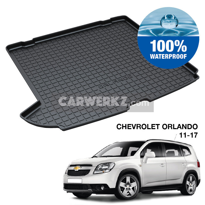 Chevrolet Orlando 2011-2017 1st Generation Perfect Moulded Ultra Durable TPO 3D Boot Tray - CarWerkz