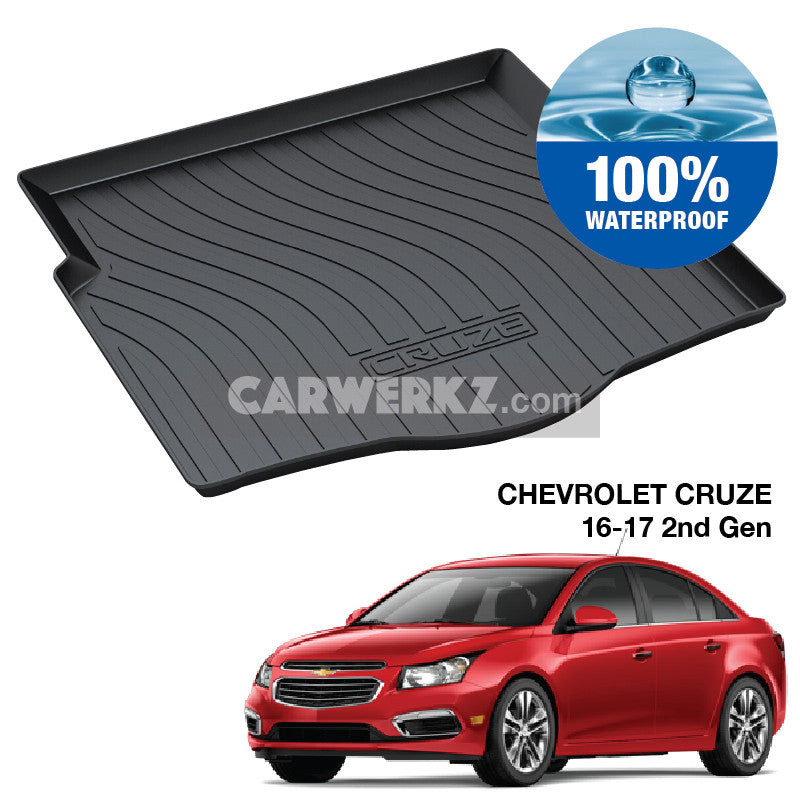 Chevrolet Cruze 2015-2017 2nd Generation Perfect Moulded Ultra Durable TPO 3D Boot Tray - CarWerkz