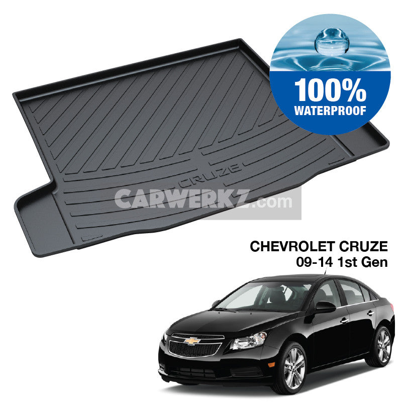 Chevrolet Cruze 2009-2014 1st Generation Perfect Moulded Ultra Durable TPO 3D Boot Tray - CarWerkz