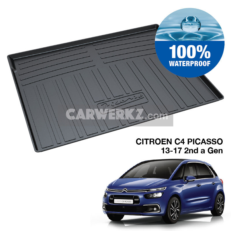 Citroen C4 Picasso II 5 Seaters 2013-2020 2nd Generation France Compact Hatchback Trunk Perfect Moulded Ultra Durable TPO 3D Boot Tray - CarWerkz