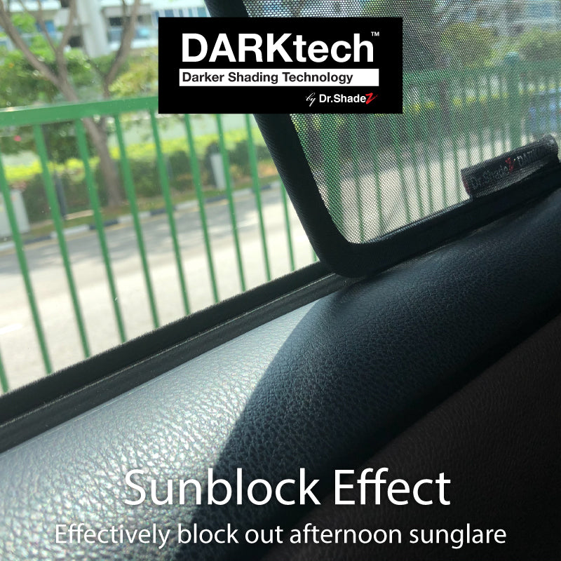 DARKtech Subaru Forester 2019-Current 5th Generation (SK) Japanese Subcompact Crossover SUV Customised SUV Window Magnetic Sunshades - carwerkz singapore japan australia united kingdom sunblock effect