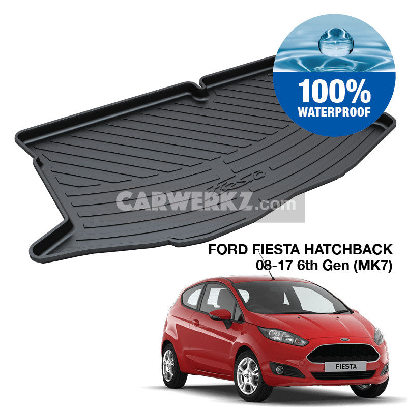 Ford Fiesta Hatchback 2008-2017 2nd 3rd Generation (MK7) TPO Boot Tray - CarWerkz
