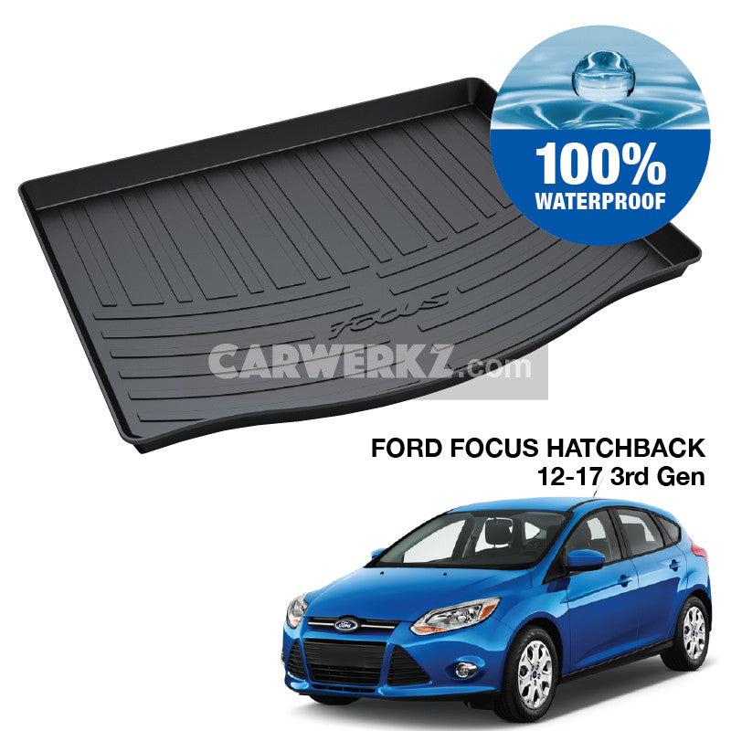 Ford Focus Hatchback 2008-2017 2nd 3rd Generation TPO Boot Tray - CarWerkz