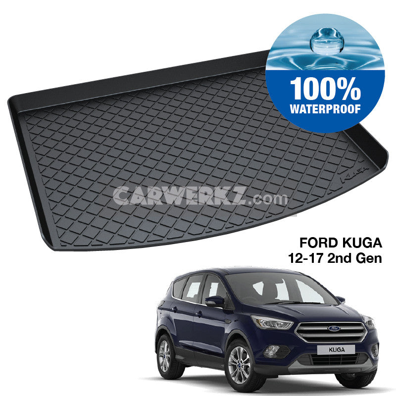 Ford Kuga 2012-2017 2nd Generation (C520) Trunk Perfect Moulded Ultra Durable TPO 3D Boot Tray - CarWerkz