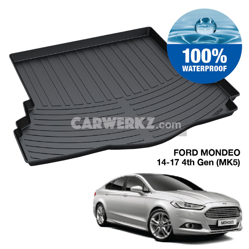 Ford Mondeo 2014-2017 4th Generation (MK5) Trunk Perfect Moulded Ultra Durable TPO 3D Boot Tray - CarWerkz
