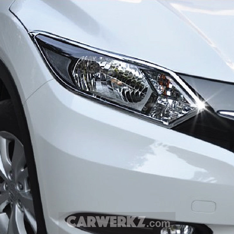 Honda Vezel HR-V 2013-2017 Front Head Light Trimming Chrome - CarWerkz