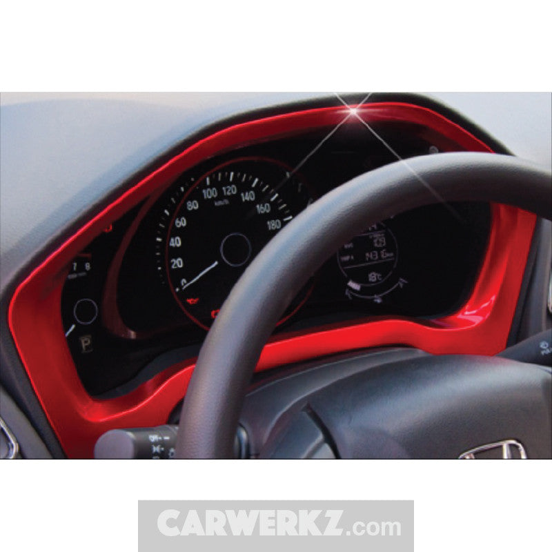 Honda Vezel HR-V 2013-2017 Dashboard Trimming Red - CarWerkz