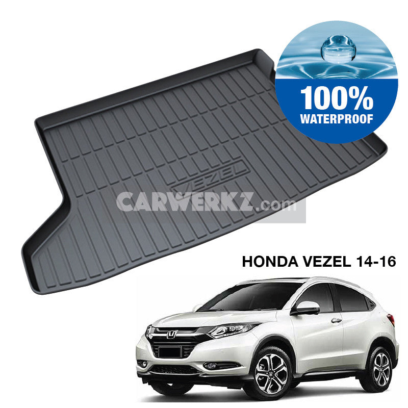 Honda Vezel 2013-2018 1st Generation Perfect Fit Waterproof TPO Boot Tray - CarWerkz