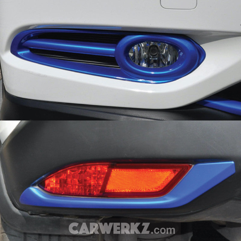 Honda Vezel HR-V 2013-2017 Front and Rear Fog Light Trimming Blue - CarWerkz