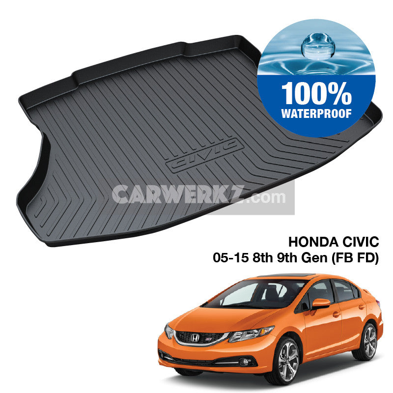 Honda Civic 2005-2015 8th 9th Gen (FD FB) TPO Boot Tray - CarWerkz