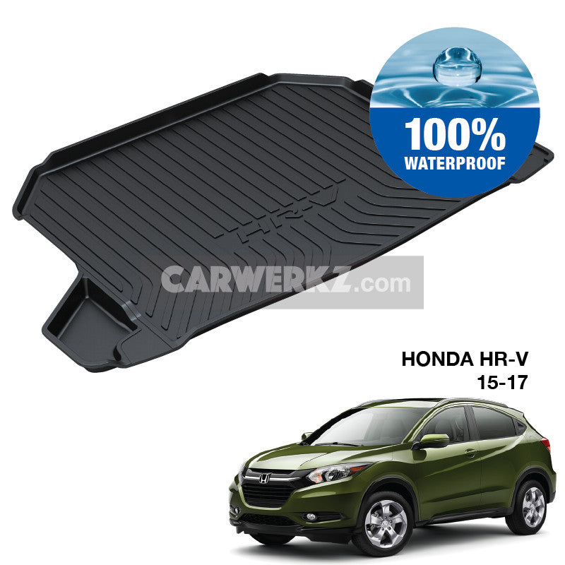 Honda HR-V 2015-2020 2nd Generation Japan SUV Trunk Perfect Moulded Ultra Durable TPO 3D Boot Tray - CarWerkz