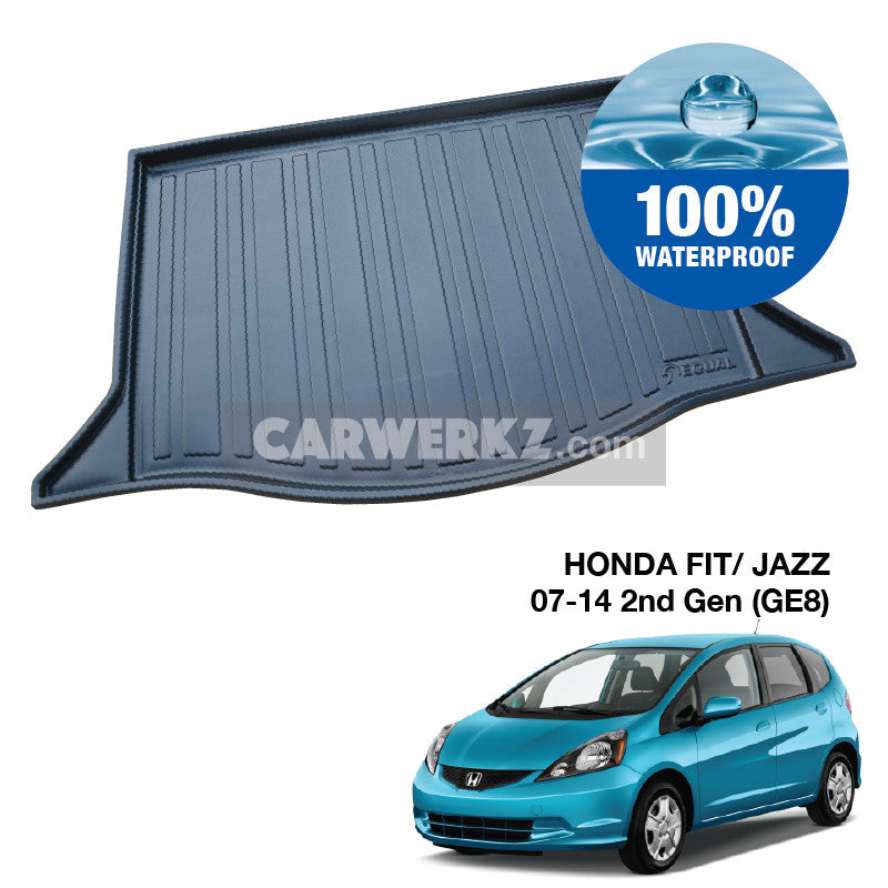 Honda Fit Jazz 2007-2014 2nd Generation (GE) Japan Hatchback Customised Car Trunk Perfect Moulded Ultra Durable TPO 3D Boot Tray - CarWerkz