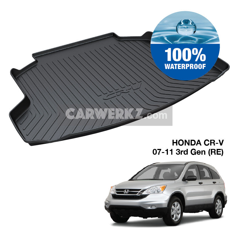 Honda CRV 2007-2011 3rd Generation (RE) Japan Sport Utility Vehicles Customised SUV Trunk Perfect Moulded Ultra Durable TPO 3D Boot Tray - CarWerkz