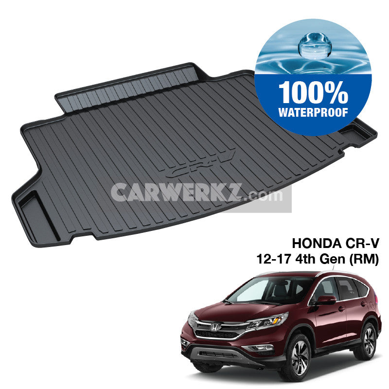 Honda CRV 2012-2016 4th Generation (RM) Japan Sport Utility Vehicles Customised SUV Trunk Perfect Moulded Ultra Durable TPO 3D Boot Tray - CarWerkz