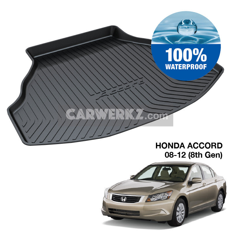 Honda Accord 2008-2012 8th Generation (CP3) Trunk Perfect Moulded Ultra Durable TPO 3D Boot Tray - CarWerkz