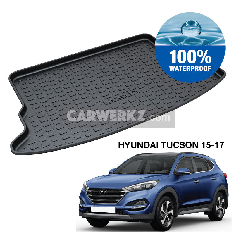 Hyundai Tucson 2015-2020 3rd Generation (TL) Korea SUV Customised Car Trunk Perfect Moulded Ultra Durable TPO 3D Boot Tray - CarWerkz