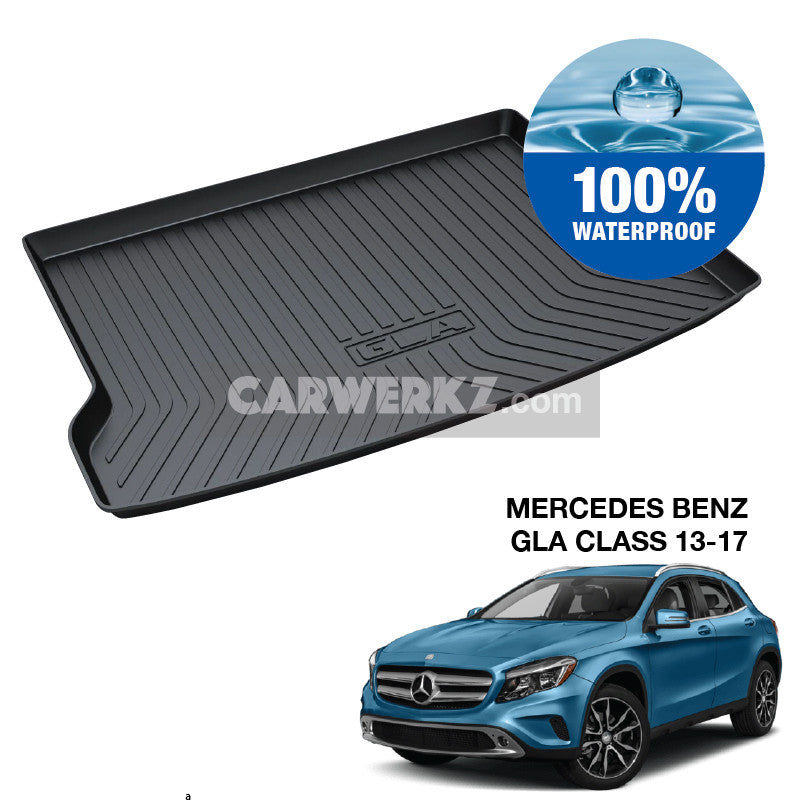 Mercedes Benz GLA Class 2013-2020 1st Generation (X156) Germany Subcompact Crossover Customised Car Trunk Perfect Moulded Ultra Durable TPO 3D Boot Tray - CarWerkz