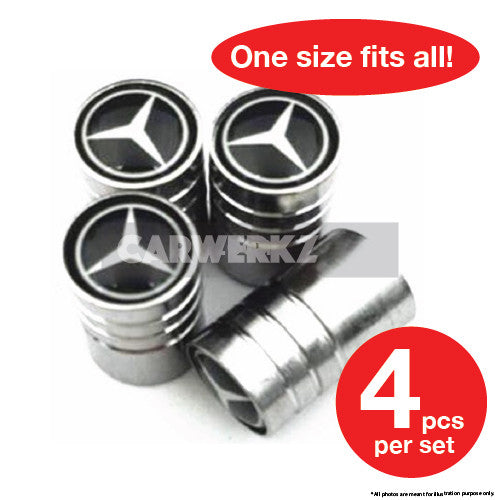 Mercedes Benz Valve Cap 4 Pieces - CarWerkz