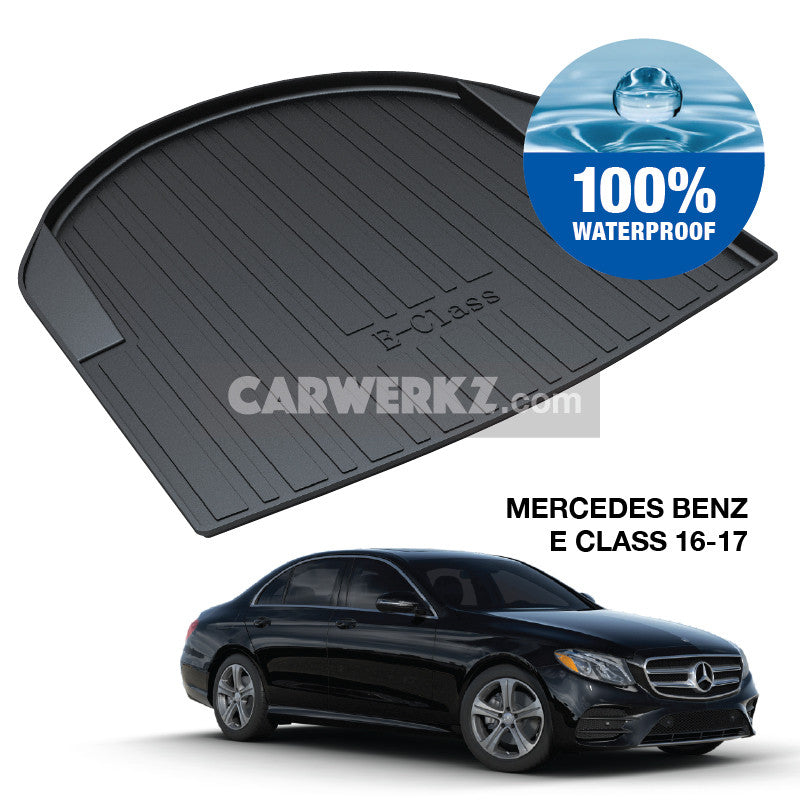 Mercedes Benz E Class 2016-2020 5th Generation (W213) Germany Executive Sedan Customised Car Trunk Perfect Moulded Ultra Durable TPO 3D Boot Tray - CarWerkz
