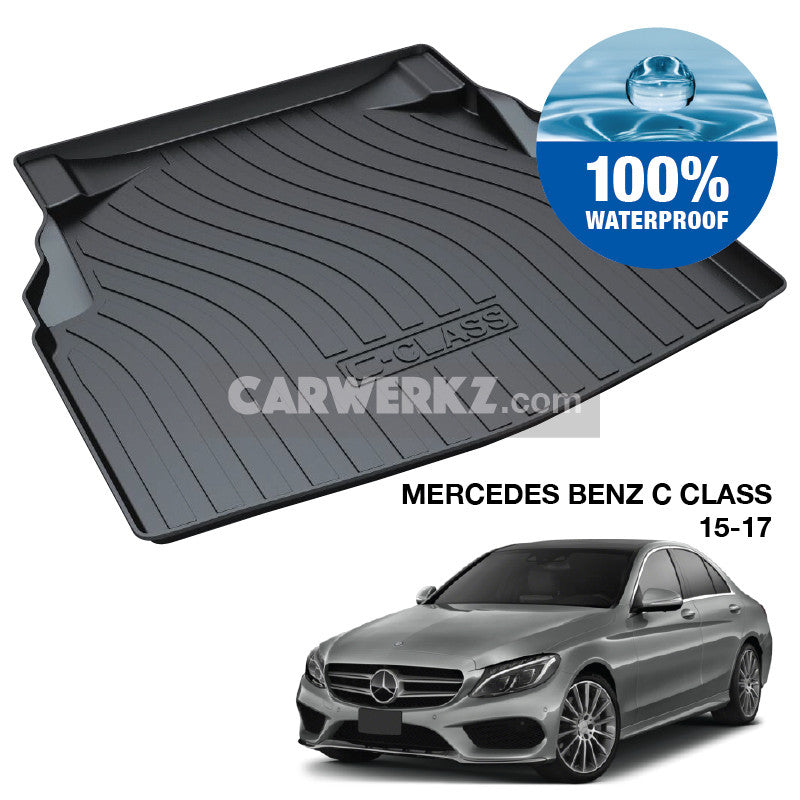Mercedes Benz C Class 2014-2020 (W205) Germany Compact Executive Customised Car Trunk Perfect Moulded Ultra Durable TPO 3D Boot Tray - CarWerkz