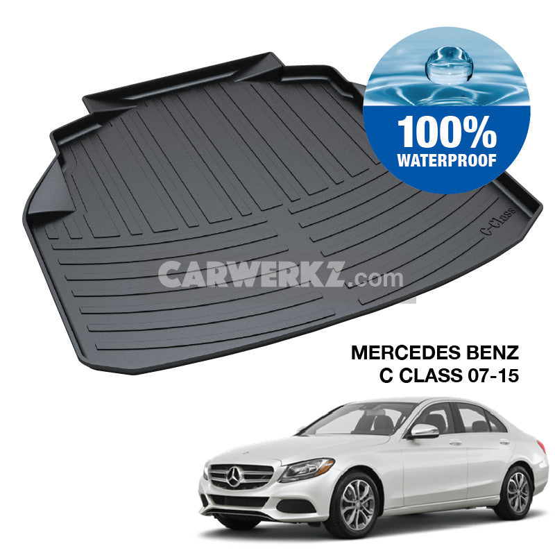 Mercedes Benz C Class 2007-2014 (W204) Germany Sedan Customised Car Trunk Perfect Moulded Ultra Durable TPO 3D Boot Tray - CarWerkz