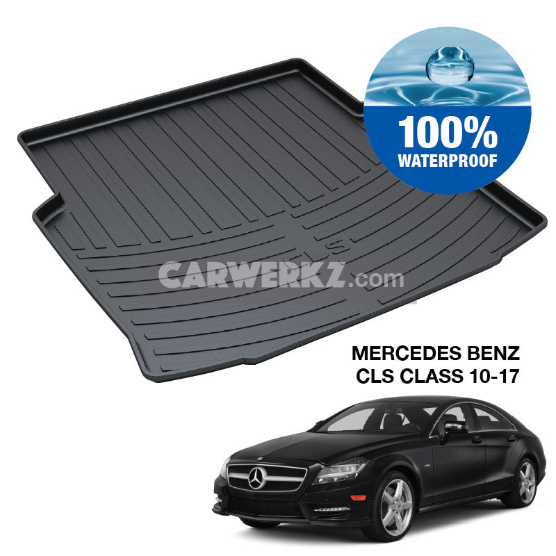 Mercedes Benz CLS Class 2010-2017 2nd Generation (W218) Trunk Perfect Moulded Ultra Durable TPO 3D Boot Tray - CarWerkz