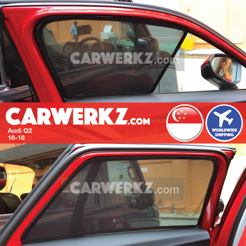 Audi Q2 2016-2018 Customised Car Window Magnetic Sunshades 4 Pieces - CarWerkz