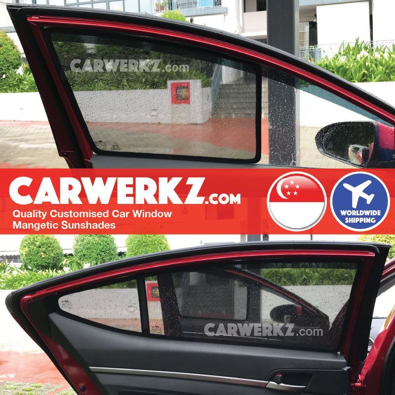 Hyundai Elantra 2016-2018 6th Generation (AD) Korean Sedan Customised Car Window Magnetic Sunshades 4 Pieces - CarWerkz