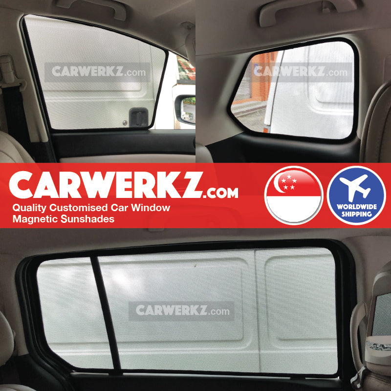 Mazda 8 MPV 2006-2016 3rd Generation (LY) Japan MPV Customised Car Window Magnetic Sunshades 6 Pieces - CarWerkz