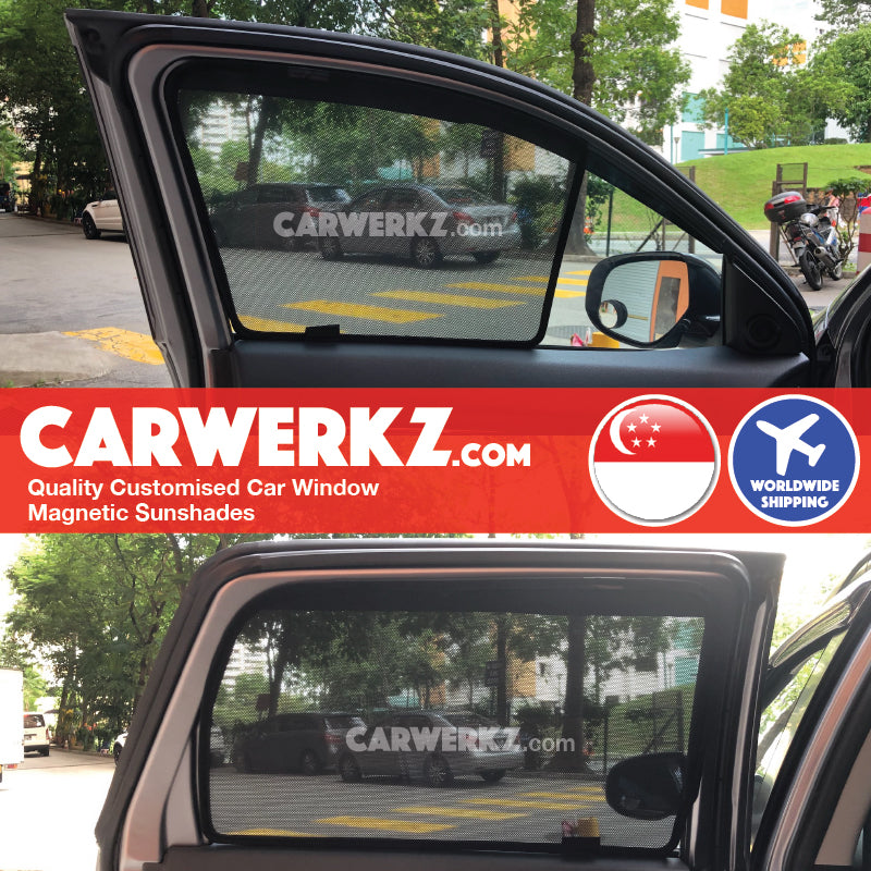 Mitsubishi ASX RVR Outlander Sport 2010-2019 3rd Generation Japan Customised Car Window Magnetic Sunshades 4 Pieces - CarWerkz