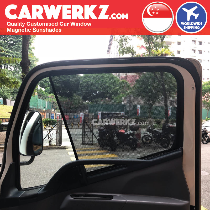 Mitsubishi Fuso Canter 2015-2019 Japan Light Duty Truck Customised Lorry Windows Magnetic Sunshades Driver 2 Pieces - CarWerkz