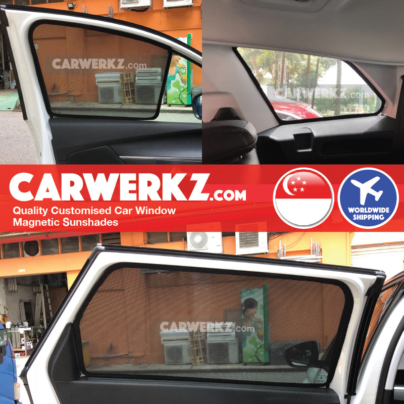 Peugeot 5008 II 2017 2018 2019 2nd Generation France Compact Crossover SUV Customised Car Window Magnetic Sunshades fitted photos pictures - carwerkz singapore malaysia Australia