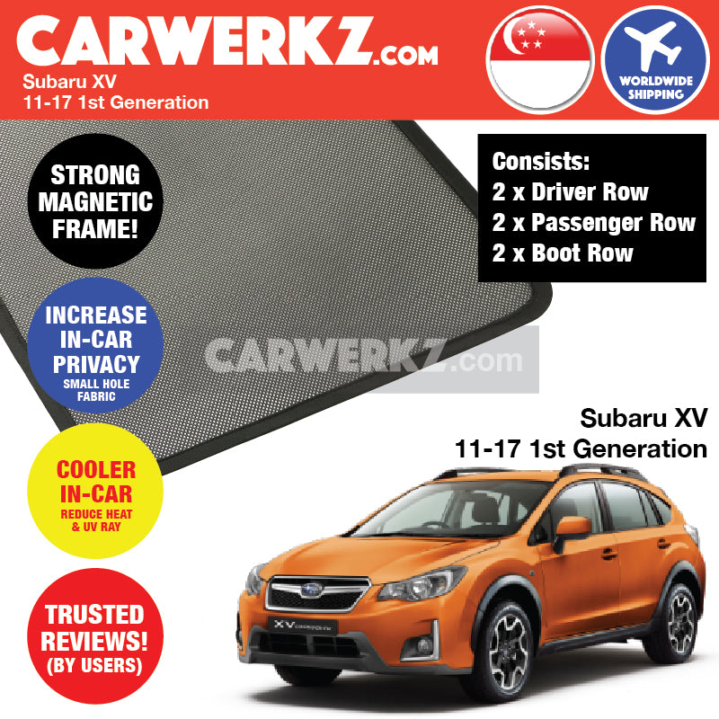 Subaru XV Crosstrek 2011-2017 1st Generation Japan Crossover Customised SUV Window Magnetic Sunshades - CarWerkz