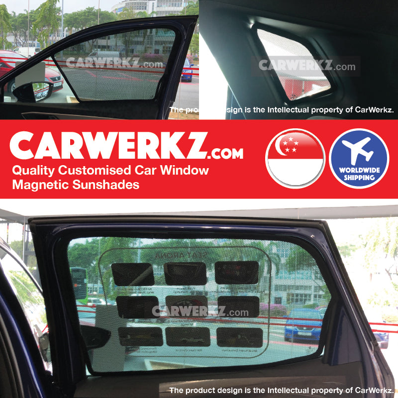 Seat Arona 2017-2019 1st Generation Spain Compact SUV Customised Car Window Magnetic Sunshades 6 Pieces