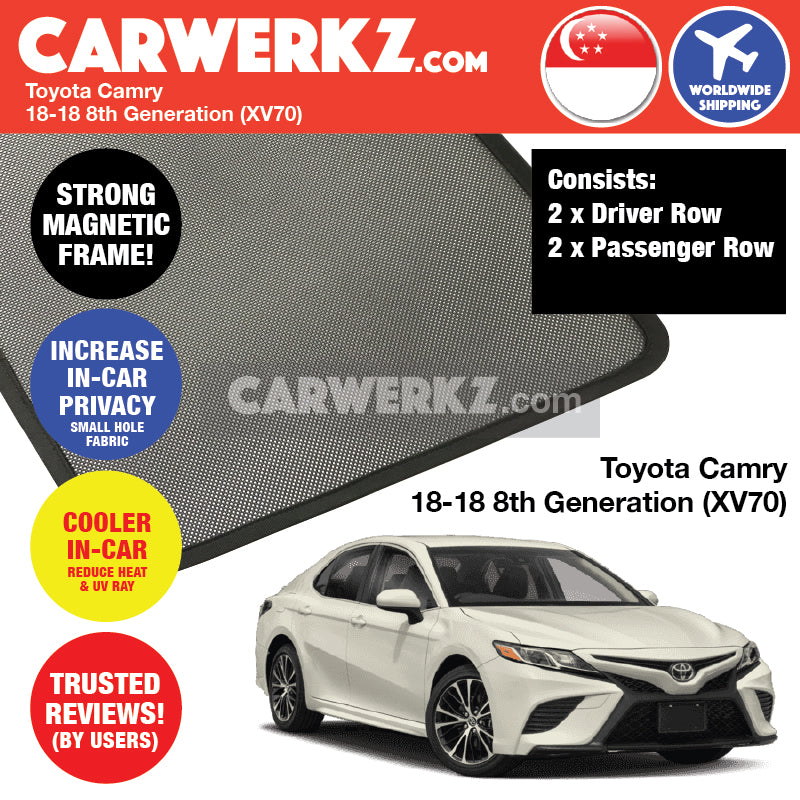 Toyota Camry 2018-2018 8th Generation (XV70) Customised Car Window Magnetic  Sunshades - ed81a87f4f8
