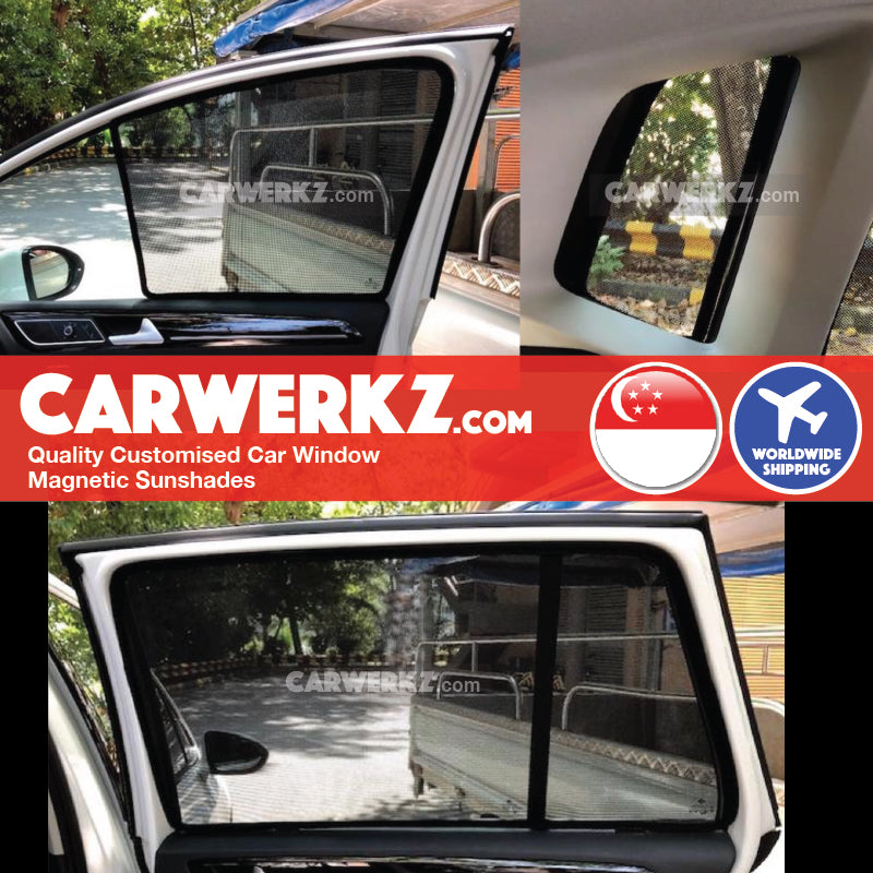Volkswagen Sportsvan SV 2012 2013 2014 2015 2016 2017 2018 2019 (MK7) Germany Hatchback Customised Car Window Magnetic Sunshades installed photos fitting photos - carwerkz sg au my de pl