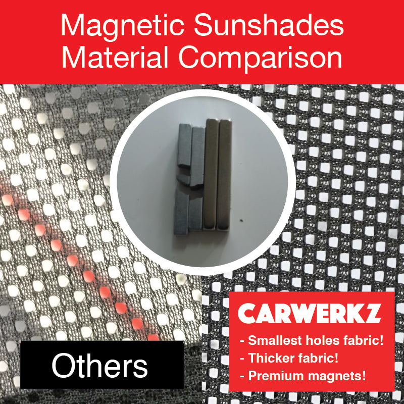 Mazda 6 Stationwagon 2016-2019 (GL) Japan Automotive Customised Magnetic Sunshades 6 Pieces - CarWerkz