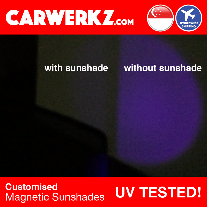 Mitsubishi Lancer Ex 2007 2008 2009 2010 2011 2012 2013 2014 2015 2016 2017 Japan Sedan Customised Car Window Magnetic Sunshades 4 Pieces reduce heat reduce sunglare reduce uv ray tested proven - carwerkz singapore australia malaysia