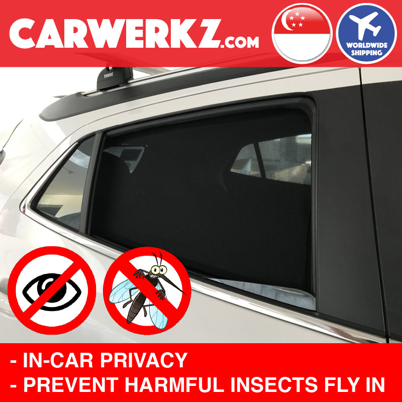 Skoda Octavia 2013-2019 MK3 3rd Generation (5E) Customised Czech Car Window Magnetic Sunshades 4 Pieces Privacy Anti Theft Anti Mosquitoes - CarWerkz