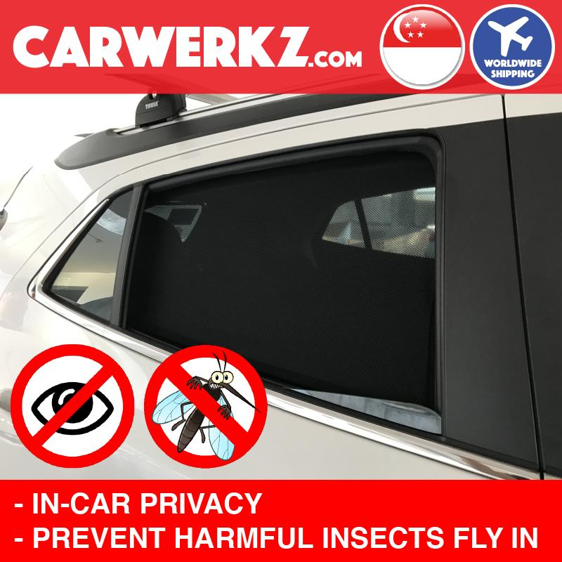 Porsche Cayenne 2017-2020 3rd Generation (9Y0) Germany Luxury SUV Customised Window Magnetic Sunshades 6 Pieces - CarWerkz