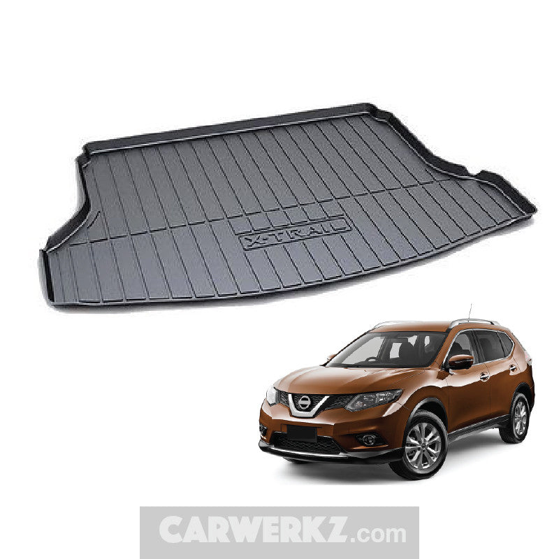 Nissan X-Trail Rogue 2013-2020 3rd Generation (T32) Japan Compact Crossover SUV Customised Car Trunk Perfect Moulded Ultra Durable TPO 3D Boot Tray - CarWerkz