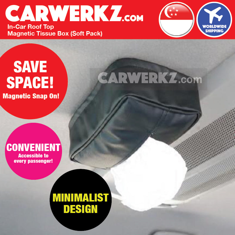 In Car Roof Top Space Saving Magnetic Tissue Holder - CarWerkz