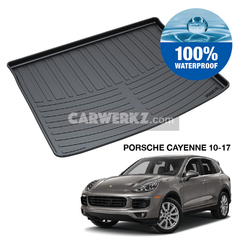 Porsche Cayenne 2011-2017 2nd Generation (92A E2) Germany Luxury Mid Size Compact Crossover Customised Car Trunk Perfect Moulded Ultra Durable TPO 3D Boot Tray - CarWerkz