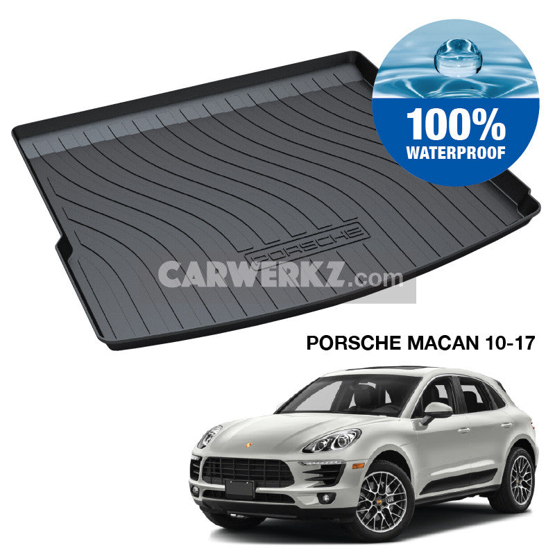 Porsche Macan 2014-2020 1st Generation (95B) Germany Luxury Crossover Customised Car Trunk Perfect Moulded Ultra Durable TPO 3D Boot Tray - CarWerkz