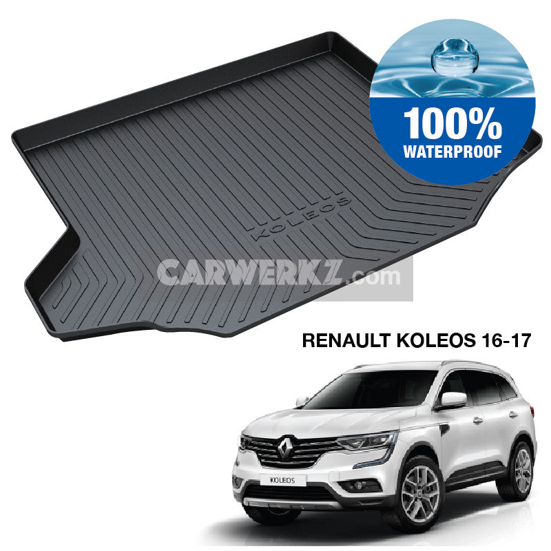 Renault Koleos 2016-2017 2nd Generation (QM6) Trunk Perfect Moulded Ultra Durable TPO 3D Boot Tray - CarWerkz
