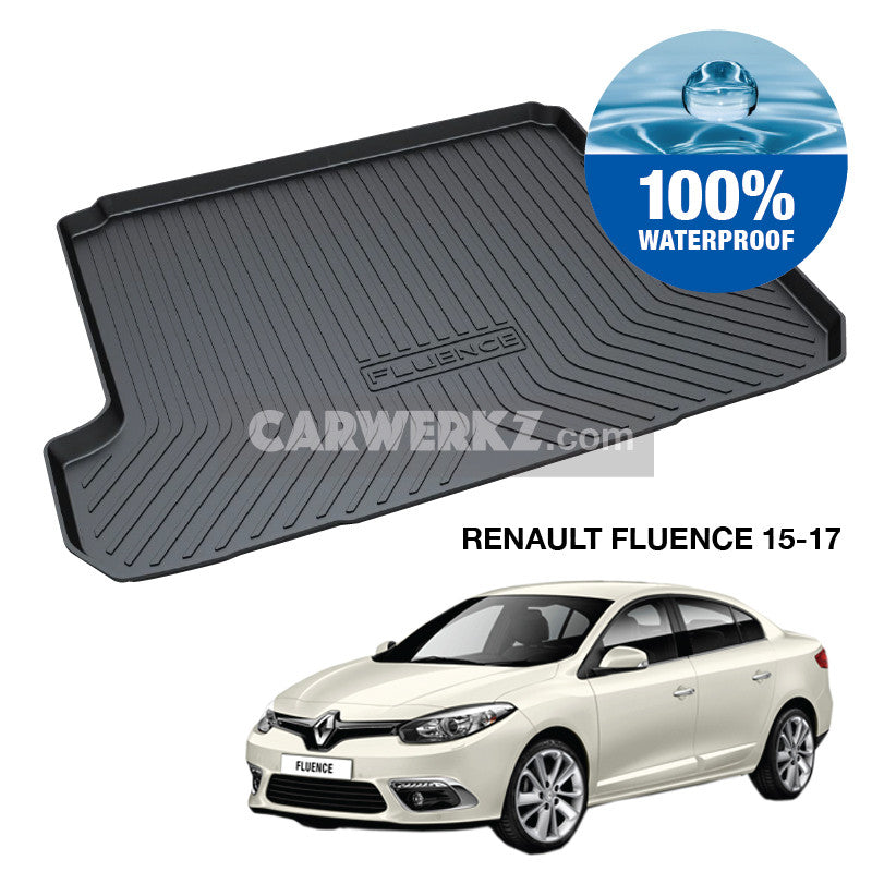 Renault Fluence 2012-2017 Trunk Perfect Moulded Ultra Durable TPO 3D Boot Tray - CarWerkz